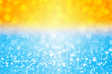 Abstract summer sunset or sunrise water bokeh pool beach party background