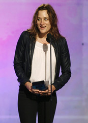 Director Margaret Brown accepts the Truer Than Fiction award at the 24th annual Spirit Awards in Santa Monica