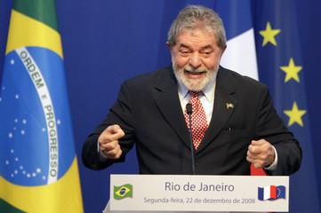 Brazil's President Lula speaks in Rio de Janeiro