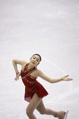 South Korea's Kim Yu-na competes during the senior ladies' free skating event at the ISU Grand Prix of Figure Skating Final in Goyang