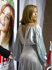 Jennifer Lopez arrives at the premiere of Monster in Law.