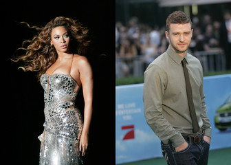 File photos of singers Beyonce and Justin Timberlake