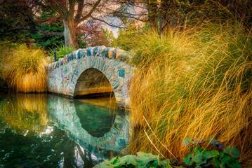The Little Stone Bridge in Queenstown Botanic Gardens