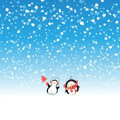 Winter New Year snow background