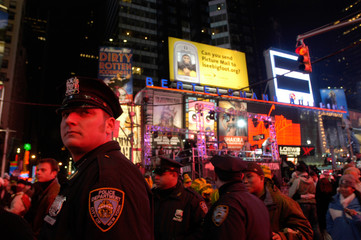 Revelers celebrate New Year in New York's Times Square