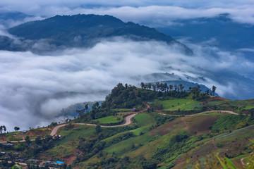 The mist at sunrise time at Phu Thap Boek, Phetchabun Province Thailand