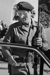 File photo of former Argentine Colonel Mohamed Ali Seineldin, a veteran of the 1982 Falklands War