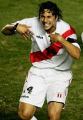 FILE PICTURE OF PERUVIAN CAPTAIN PIZARRO DURING GAME AT COPA AMERICA.