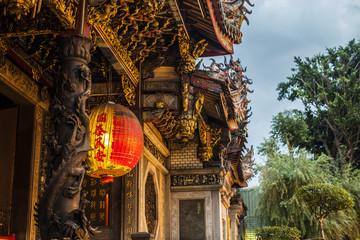 Details of Longshan Temple in Taipei, Taiwan