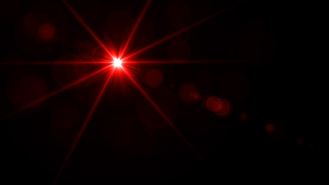 Red, bright laser beam