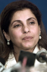 BOLLYWOOD STAR DIMPLE KAPADIA SPEAKS AT NEWS CONFERENCE IN CALCUTTA.