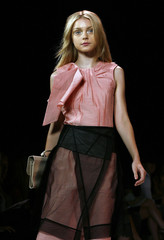 Model wears a creation from the BCBGMAXAZRIA Spring 2008 collection during New York Fashion Week
