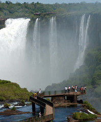 File photo of the Iguacu waterfalls as seen from the Brazilian side