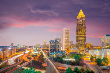 Fotomurales - Skyline of Atlanta city