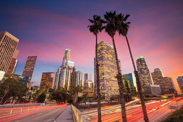 Photo sur Aluminium Etats-Unis Downtown Los Angeles skyline