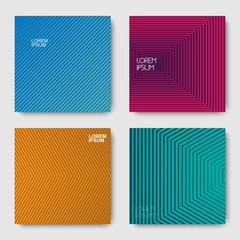 Set of geometric halftone gradients
