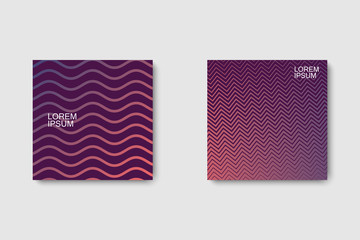 Set of geometric halftone gradients
