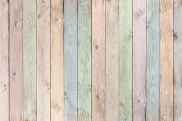 Obraz pastel colored wood planks texture or background - fototapety do salonu