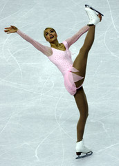 Korpi performs during Figure Skating competition at the Winter Olympic Games