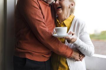 Senior Couple Daily Lifestyle Happiness Fotoväggar