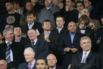 Chelsea's owner Abramovich watches his team during their FA Cup semi-final soccer match