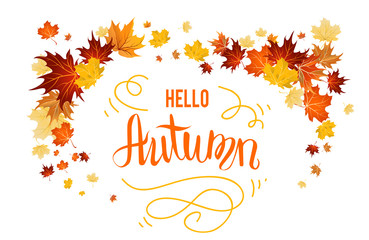 Hello autumn design