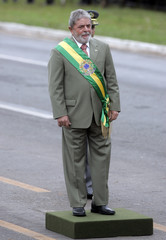 Brazil's President Luiz Inacio Lula da Silva stands before the start of the Independence Day parade in Brasilia