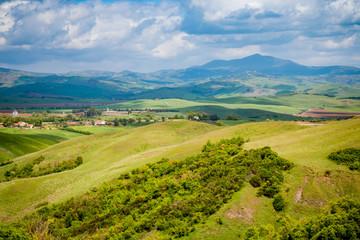 Paysage du Val d'Orcia en Toscane
