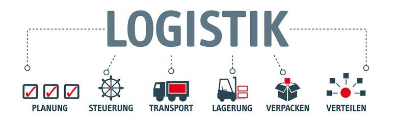 Banner Logistik Piktogramme