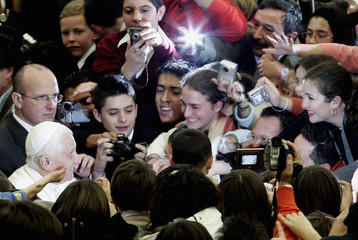 Pope Benedict XVI  arrives for his weekly general audience at the Vatican