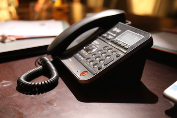 Land line Phone on the table