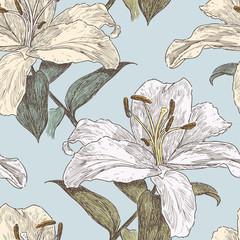 patttern of the garden lilies