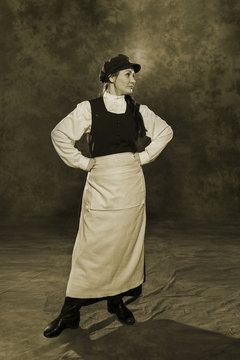 Russian woman janitor of the 19th century