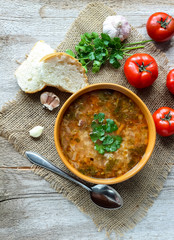Georgian soup Kharcho