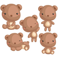 Bear Vector Set