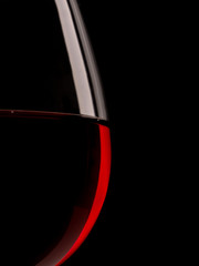 Silhouette of a red wine glass
