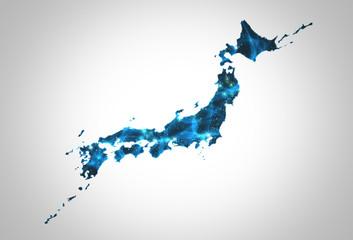 日本地図パワーエネルギー青