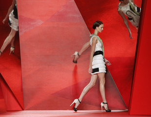 A model presents a creation from the Phillip Lim Spring 2010 collection during New York Fashion Week