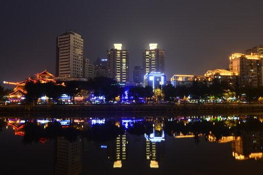 Chengdu nine eyes of the nightlife