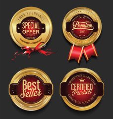 Retro vintage premium quality badges and labels collection