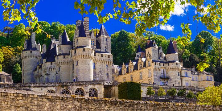 magnificent Usse castle - famous castles of Loure valley, France