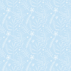 White seamless patterns. Hand drawn watercolor lines, dashes.
