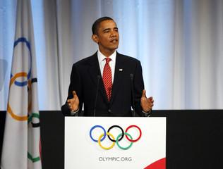 U.S. President Obama speaks in Copenhagen to promote Chicago's Olympic bid