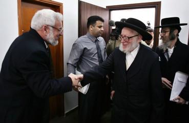 Palestinian Parliament Speaker Dweik meets with anti-Zionist Ultra-Orthodox Jews in Ramallah