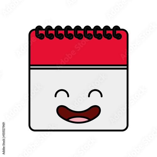 Calendar Reminder Design : Quot calendar reminder kawaii character vector illustration