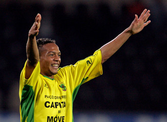 Pacos Ferreira's Didi celebrates his goal against Guimaraes in Portugal