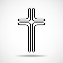 Cross. Christian Symbol. Sign of lines