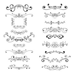 Ornament decorations. Divider elements