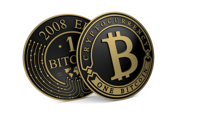 Golden Platinum Bitcoin coin