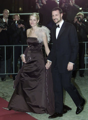 NORWAY'S CROWN PRINCE HAAKON AND PRINCESS METTE-MARIT ARRIVE FOR DINNERIN AMSTERDAM.